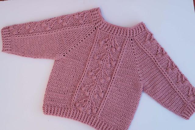 Crochet Imagen Jersey con punto relieve especial invierno por Majovel Crochet