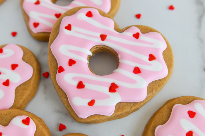 Heart-Shaped Donuts Valentine Cookies