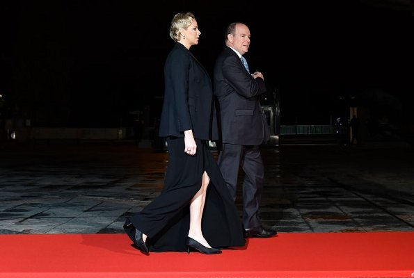 Prince Albert and Princess Charlene attended a dinner hosted by French President Emmanuel Macron in Paris