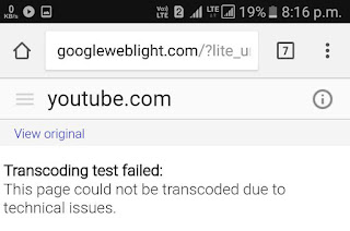 Transcoding test failed error