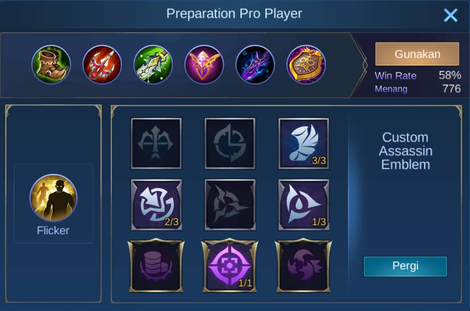 build item minsitthar mobile legends (ML)
