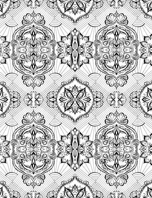 coloring-page, tessellation,