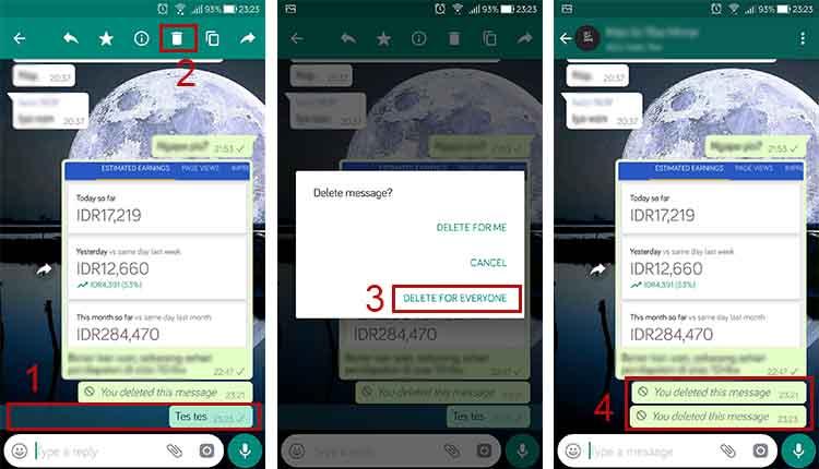 cara menghapus pesan dari WA grup