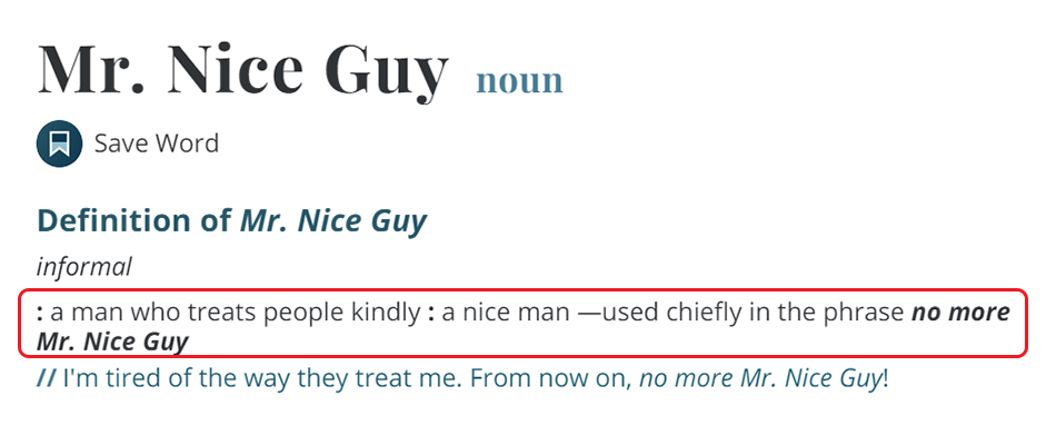 Penjelasan Nice Guy