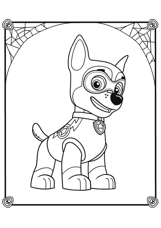 Paw patrol coloring pages 13