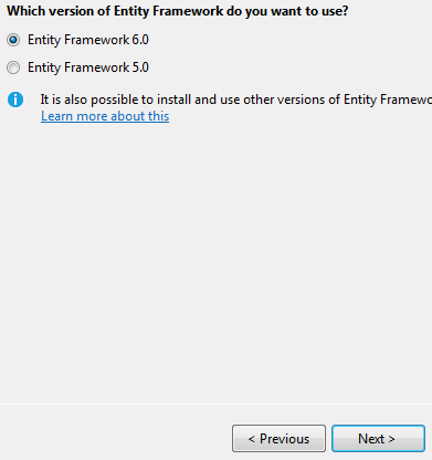 Entity Framework version 6.0