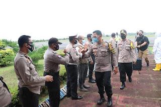 Kunjungi Kabupaten Lingga, Irwasda Polda Kepri Cek Kesiapan Operasi Mantap Praja Seligi 2020