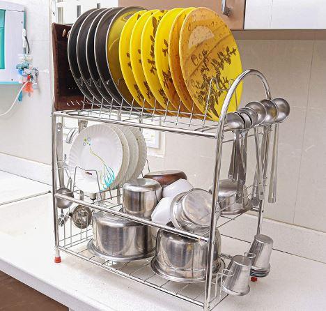Stainless Steel Bartan Kitchen Rack