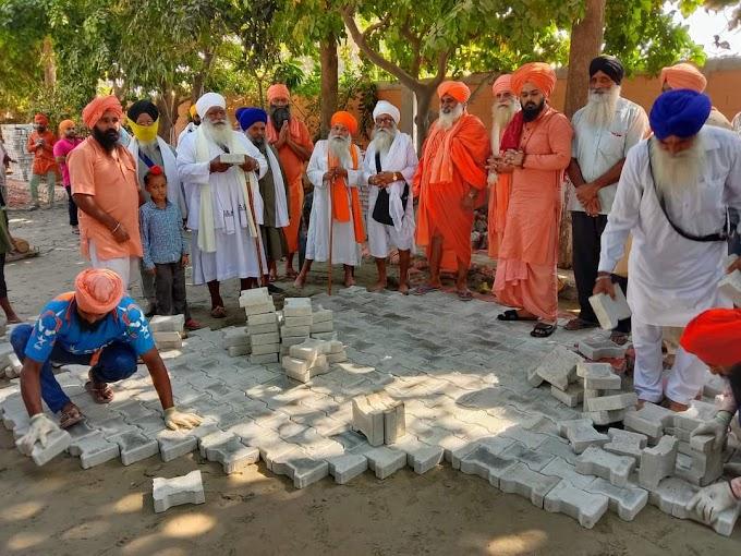 Karsewa of Interlocking tiles on the banks of the Holy Kali Bein begins