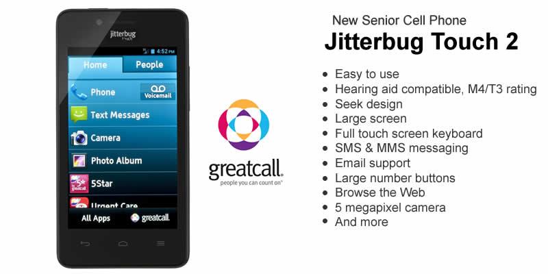 Daftar HP yang Cocok untuk Orang Tua - Jitterbug Touch 2