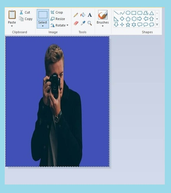 cara merubah ukuran foto menjadi 3x4 dengan paint