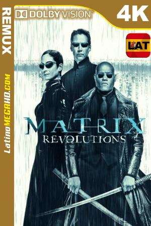 The Matrix Revolutions (2003) Latino UltraHD DV BDREMUX 2160p ()
