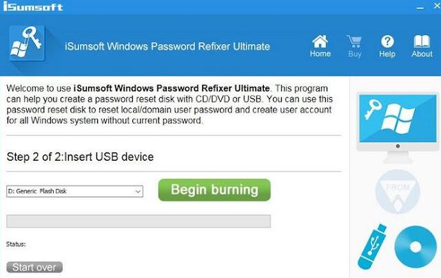 Menggunakan iSumsoft Windows Password Refixer
