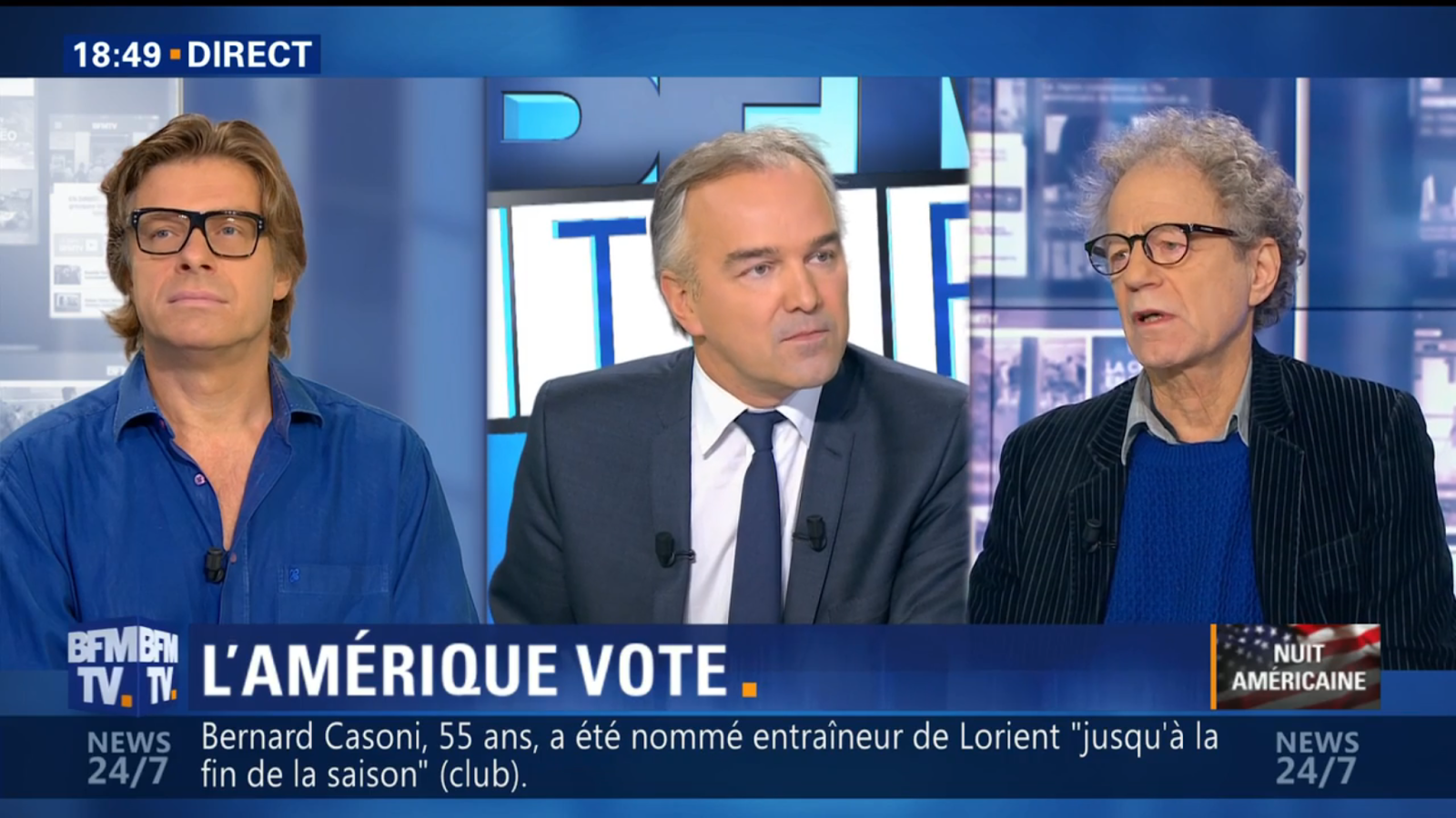 ... Votes — Republican and Democrat Clash on France's BFMTV Station