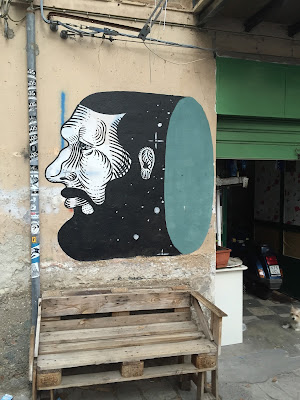 Palermo street art: tube face