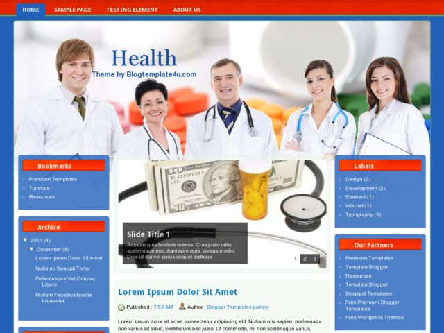 Health Blogger Template