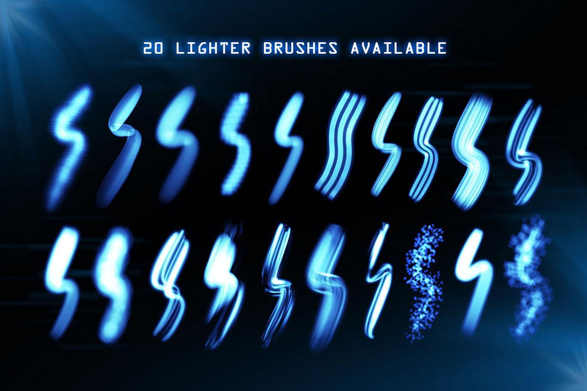 Lighter Brushes   Procreate Brush