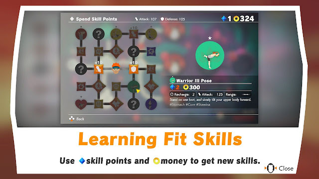 Ring Fit Adventure Spend Skill Points tree Warrior III Pose