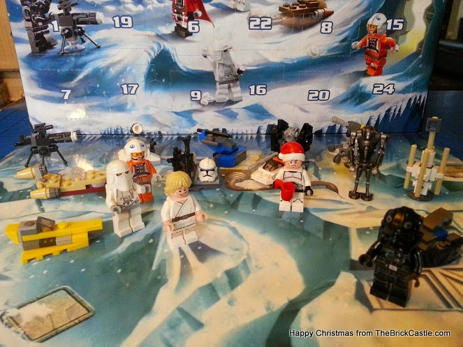 The LEGO Star Wars Advent Calendar Day 17 model on backdrop