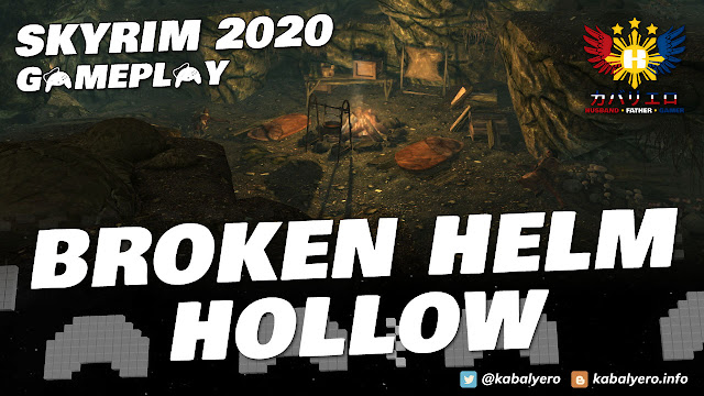 (Modded) SKYRIM Gameplay 2020! Bandit Leader at Broken Helm Hollow!