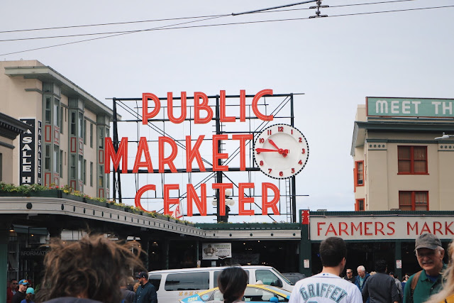 Public Market Center sign in Seattle
