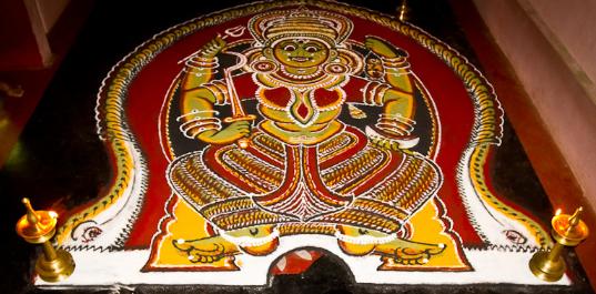 Pariyanampetta Pooram Kalamezhuthu Pattu