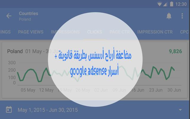 مضاعفة أرباح أدسنس بطريقة قانوينة + أسرار google adsense