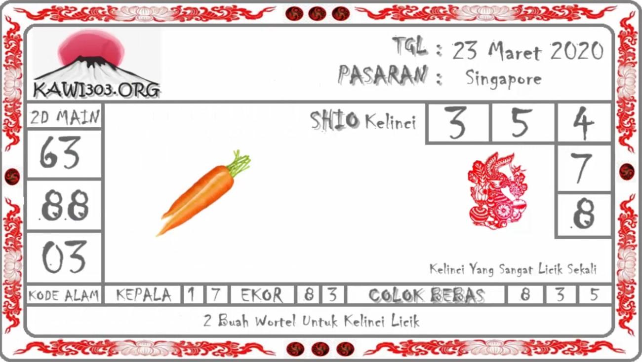 Prediksi Togel Singapura Senin 23 Maret 2020 - Prediksi Kawi303