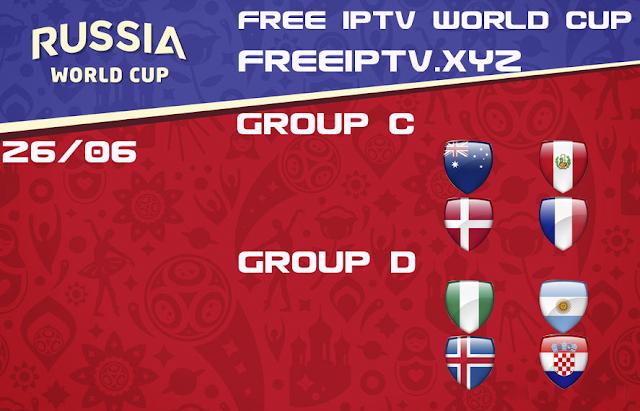World Cup 2018 iptv free m3u list 26/06/2018