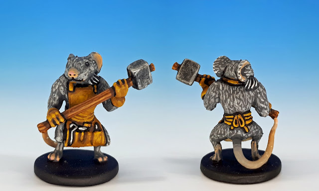 Nez painted miniature for Mice and Mystics