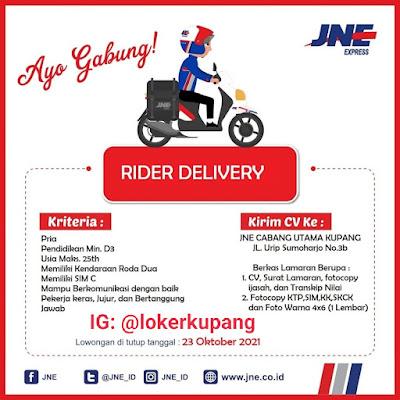 Lowongan Kerja JNE Cabang Utama Kupang Sebagai Rider Delivery
