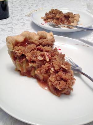 Green Tomato Apple Streusel Pie