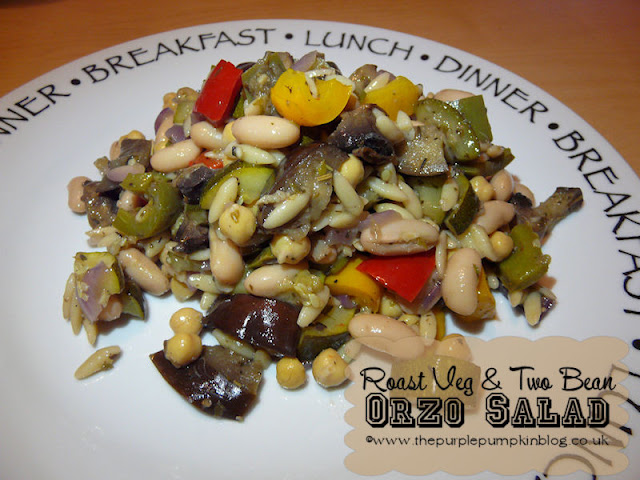 Roast Veg & Two Bean Orzo Salad