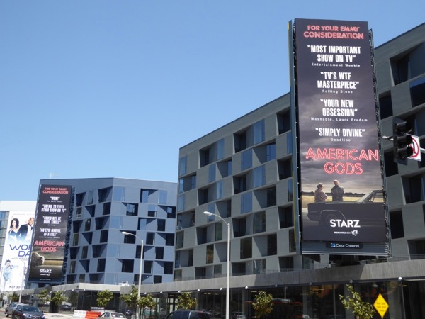 American Gods season 1 Emmy FYC billboards