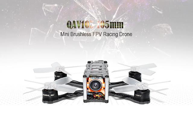 Coupon QAV105 105mm Mini Brushless FPV Racing Drone