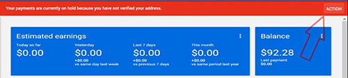 adsense account notification