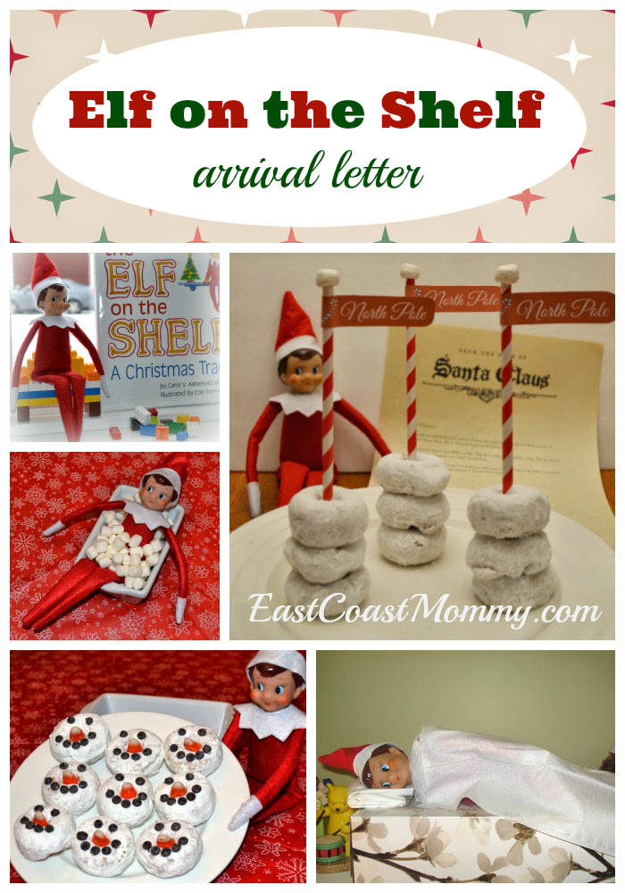 what could be more fun than getting a letter in the mail from santa announcing that our elf on the shelf will be arriving soon