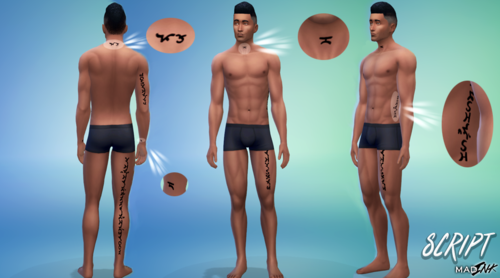 my sims 4 blog script madink tattoos for males females by madscientis7. Black Bedroom Furniture Sets. Home Design Ideas