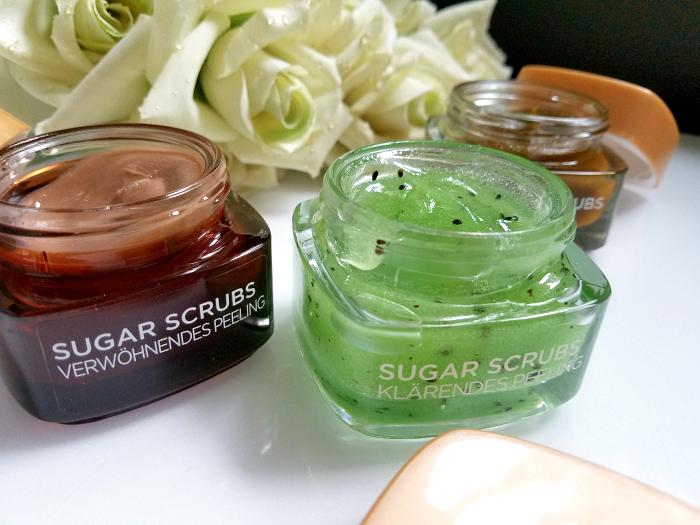 Review: L´Oréal Paris - Sugar Scrubs - Glow Peeling, Verwöhnendes Peeling, Klärendes Peeling für Gesicht und Lippen 3
