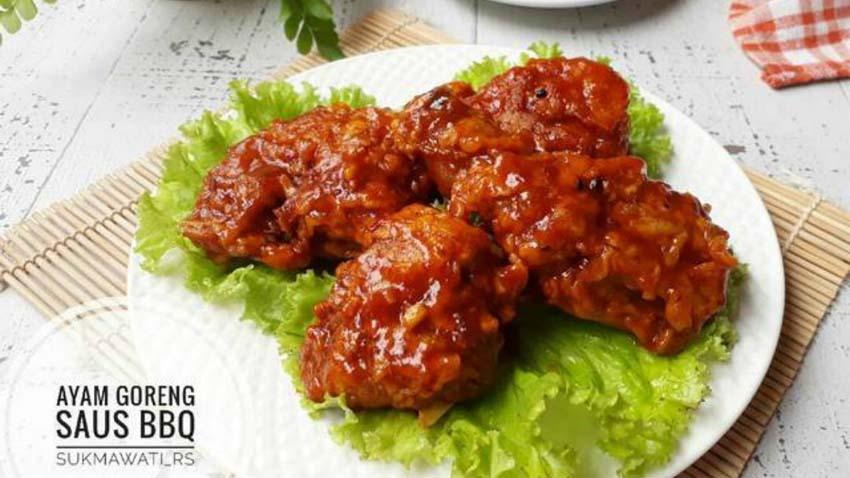 Resep Membuat Ayam Goreng Saus BBQ