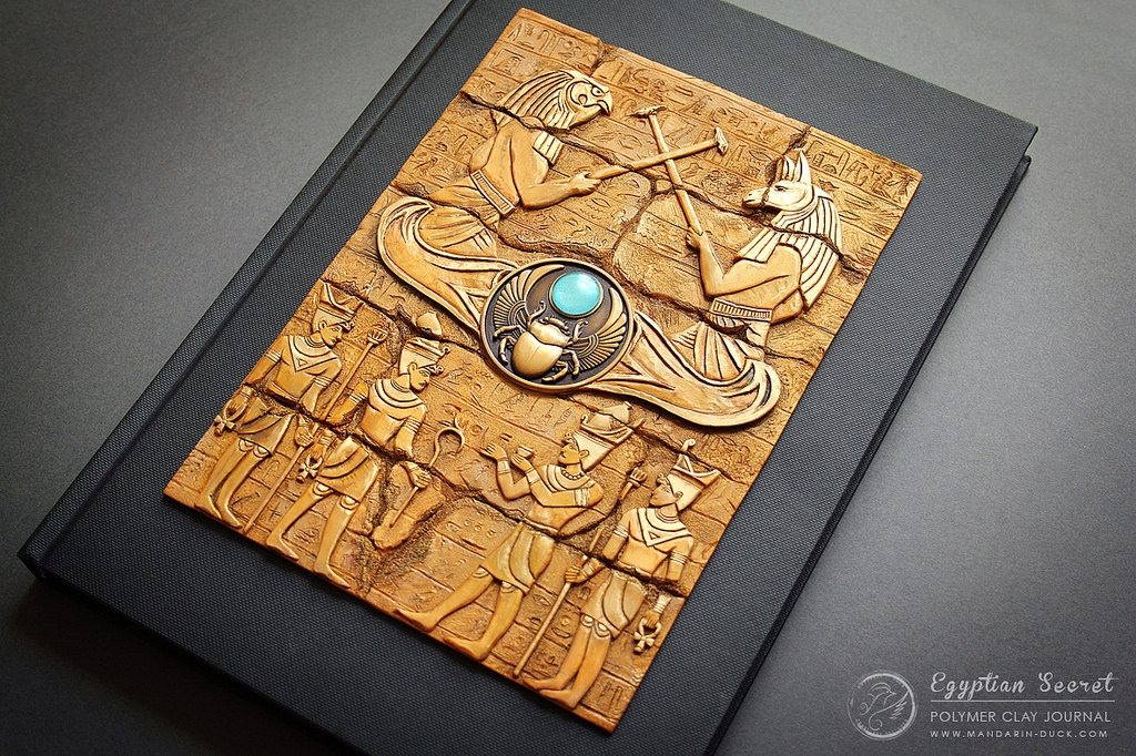 09-Egyptian-Tablet-Aniko-Kolesnikova-Polymer-Clay-Book-Diary-and-Electronics-Cover-www-designstack-co