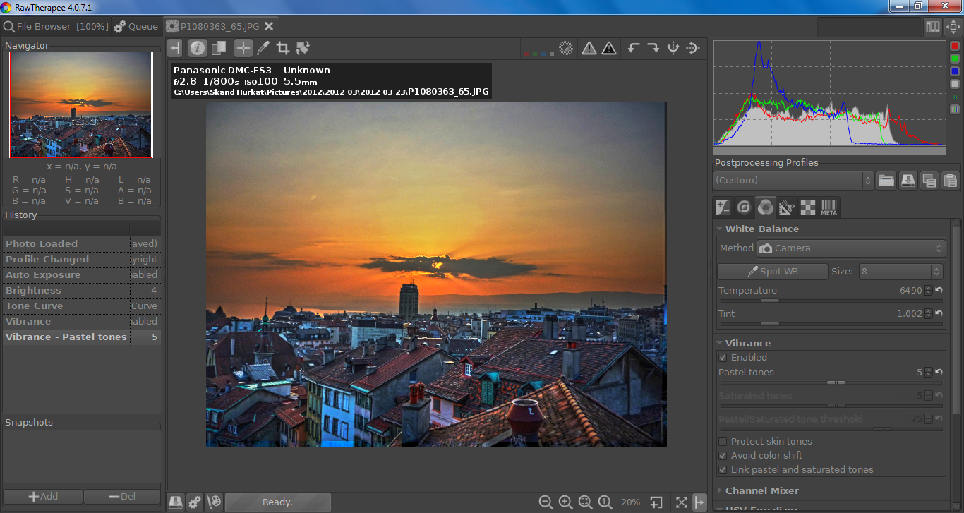 HDR Tutorial: Sunset over the Lausanne Skyline