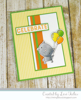 Celebrate card-designed by Lori Tecler/Inking Aloud-stamps from Reverse Confetti