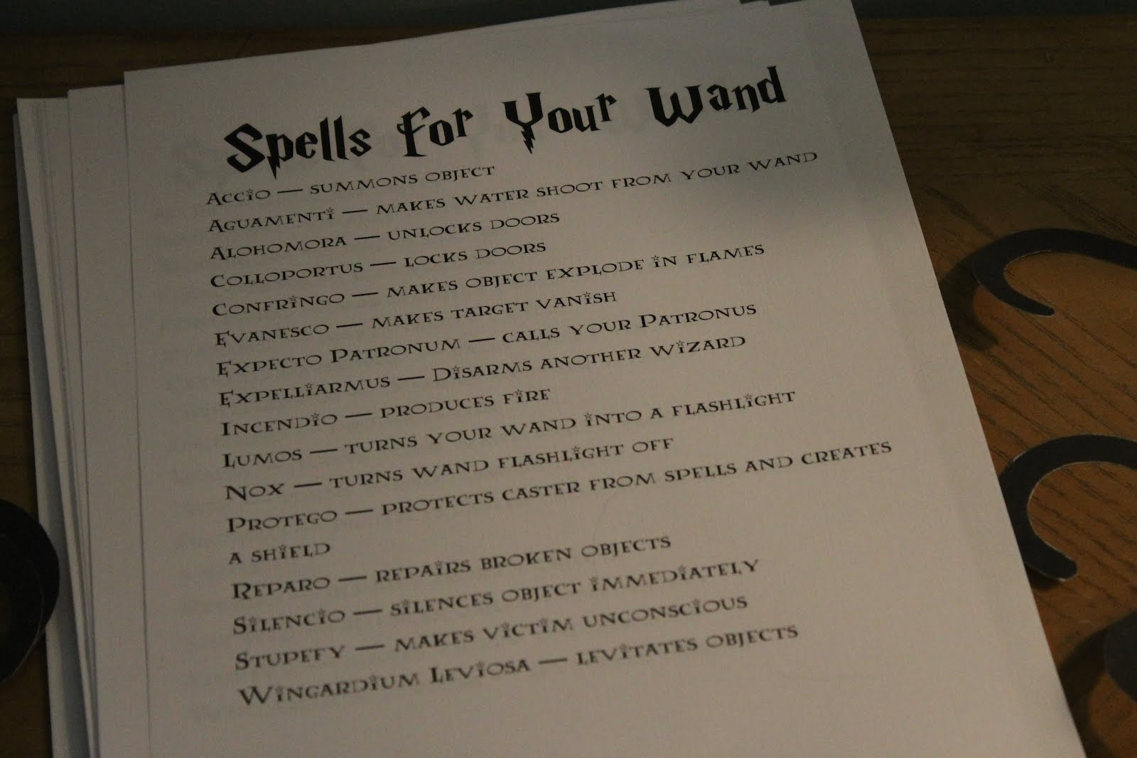 Harry Potter Quiz Spells And Charms