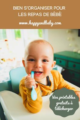 bien s'organiser pour les repas de bébé