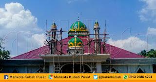 Pemasangan Kubah Masjid Enamel, Kubu Raya - Pontianak