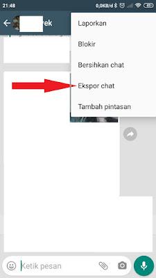 Ekspor Chat WhatsApp