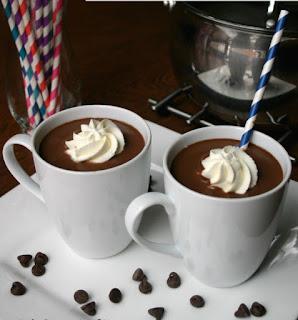 Chocolate caliente de almendras y jarabe de arce