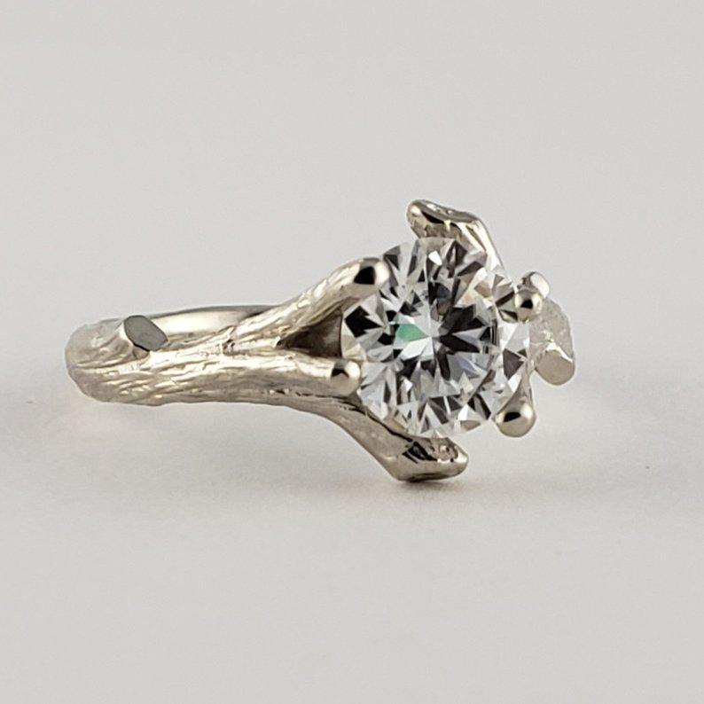 d8039fe0385df Dawn Vertrees Raw Uncut Rough Engagement Wedding Rings: 14k Gold ...