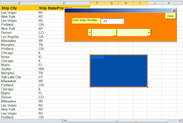 excel change background color